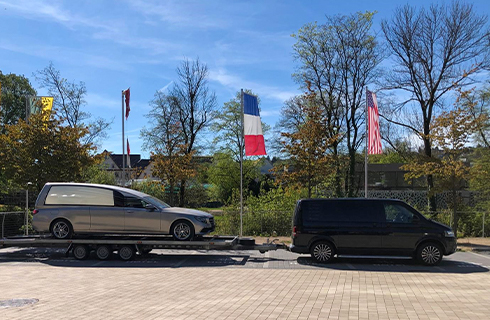 BINZ H2 Auslieferung US Funeral Mobility